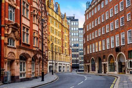 Foto de Historical buildings on Great Smith street in London city center, England, United Kingdom - Imagen libre de derechos