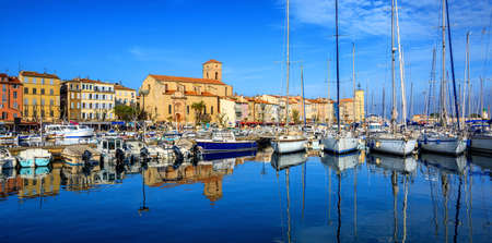 Photo for Panorama of the Old Town and port of La Ciotat by Marseilles, Provence, France - Royalty Free Image