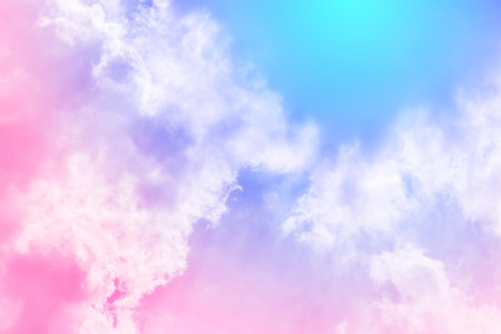 Photo pour sun and cloud background with a pastel colored - image libre de droit