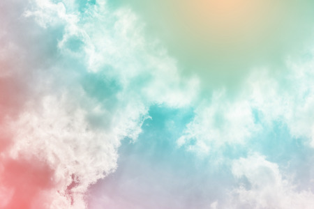 Photo for Sun and cloud background with a pastel colored - Royalty Free Image