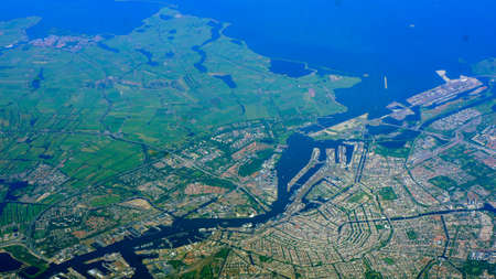 Photo for Bird`s view on Amsterdam / Netherlands - Royalty Free Image