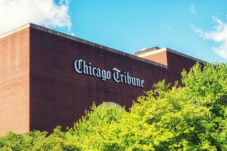 Foto de Building of the famouse Chicago Tribune Paper - Imagen libre de derechos
