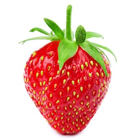 Foto de Strawberries berry isolated on white background  - Imagen libre de derechos