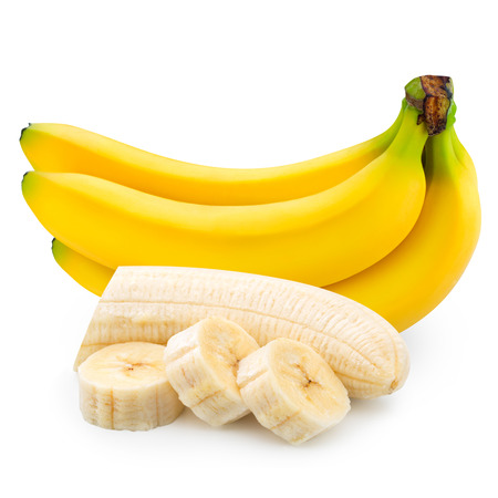 Photo pour bananas isolated on white background - image libre de droit