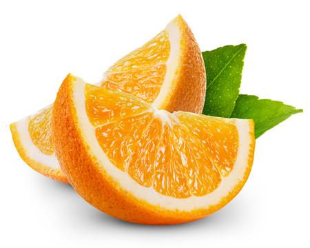 Photo for orange fruit slice isolated - Royalty Free Image