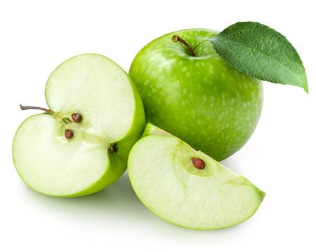 Photo pour Green apple isolated. Clipping Path - image libre de droit