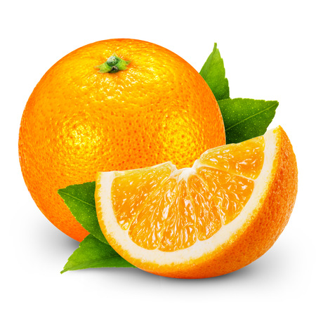 Photo for Orange fruit isolated on white background. - Royalty Free Image