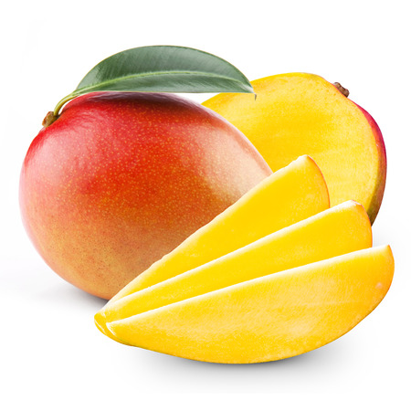 Foto de mango isolated on white background - Imagen libre de derechos