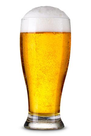 Foto de Glass of beer isolated. Clipping Path - Imagen libre de derechos