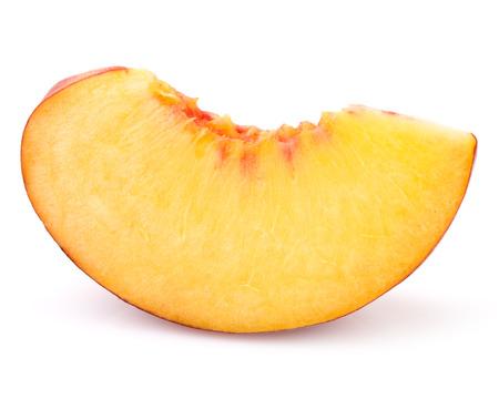 Photo pour peach slice isolated on white background cutout - image libre de droit