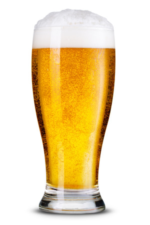 Photo pour Glass of beer isolated.  - image libre de droit