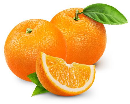 Photo for Orange fruit isolated on white background. - Royalty Free Image