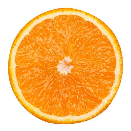Photo for slice of orange fruit isolated clipping path - Royalty Free Image