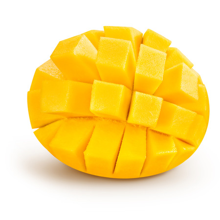 Foto de mango slice isolated on white background - Imagen libre de derechos