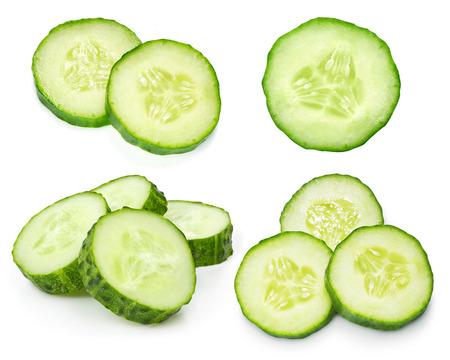 Photo pour Cucumber isolated on white background - image libre de droit