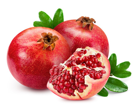 Photo for pomegranate isolated on white background - Royalty Free Image