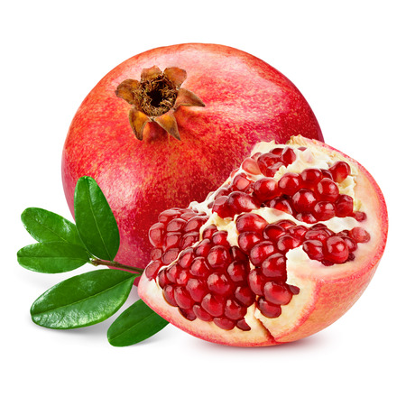Photo pour pomegranate isolated on white background - image libre de droit