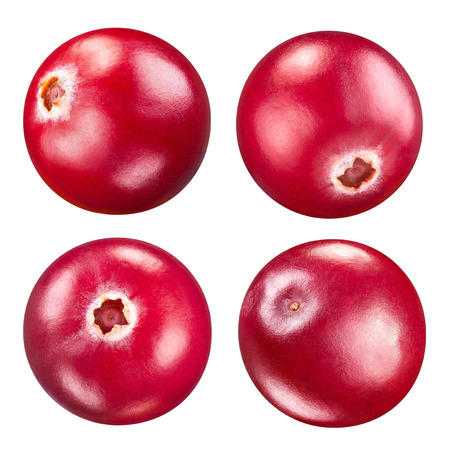 Photo for cranberries set isolated on white Clipping Path - Royalty Free Image