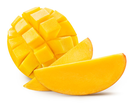 Foto de mango slice isolated on white - Imagen libre de derechos