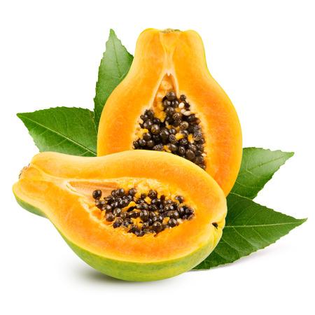 Photo for Papaya isolated on white background - Royalty Free Image