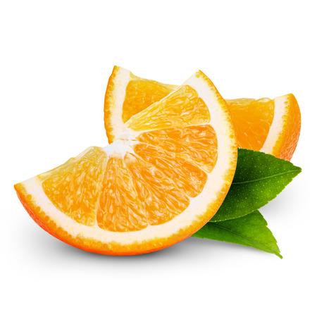 Photo for orange fruit slice isolated on white background - Royalty Free Image