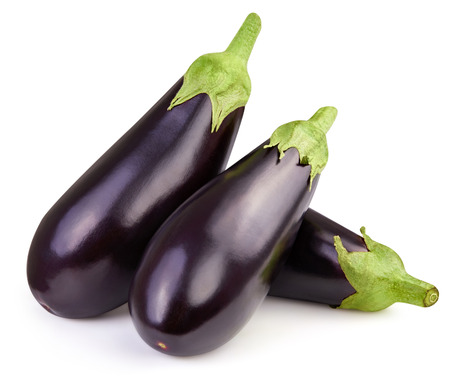 Photo for Eggplant isolated on white - Royalty Free Image