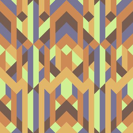 Ilustración de abstract retro geometric pattern yellow brown earth tone color. - Imagen libre de derechos