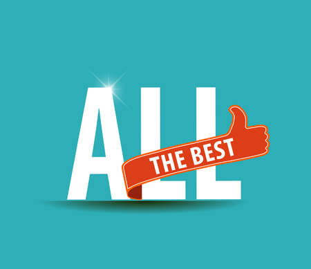 Illustration for All the best motivational graphic for best wishes, good luck - vector eps10 - Royalty Free Image