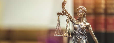 Photo for The Statue of Justice - lady justice or Iustitia / Justitia the Roman goddess of Justice - Royalty Free Image