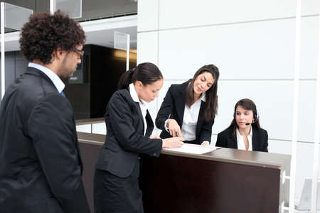 Photo for Business reception desk - Royalty Free Image