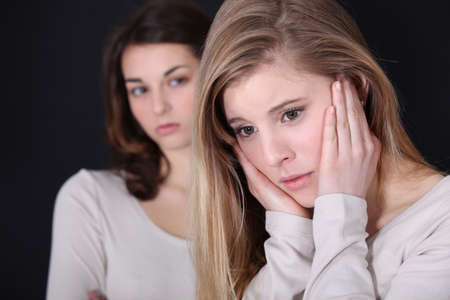 Girls arguing