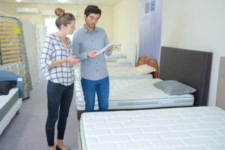Photo pour choice of mattress - image libre de droit