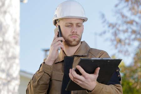 Photo pour reporting the surveyor's information - image libre de droit