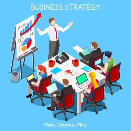 Illustration pour Startup Teamwork Brainstorming Office Meeting Room - image libre de droit
