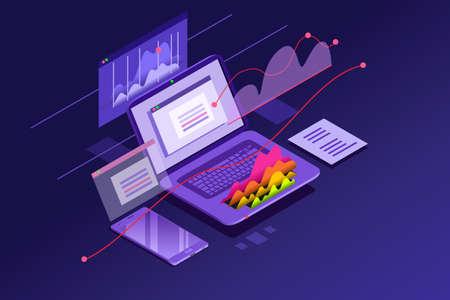Ilustración de Success elements of an internet investment - Imagen libre de derechos