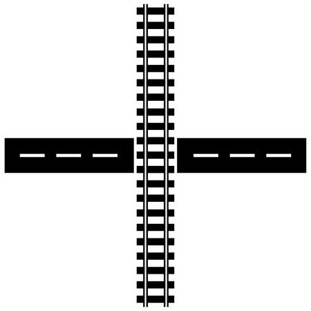 Illustration pour Train Tracks - image libre de droit