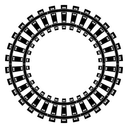 Ilustración de Train Tracks - Imagen libre de derechos