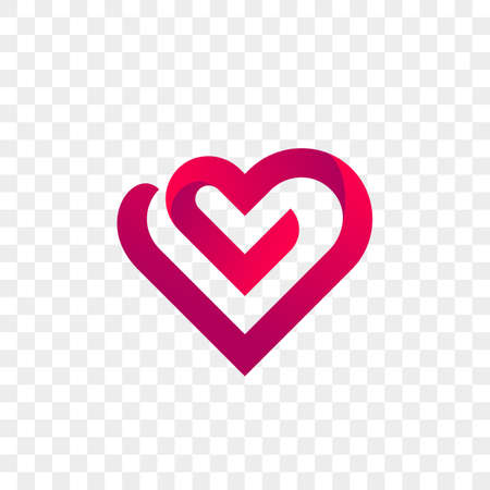 Illustration for Heart logo vector icon. Isolated modern heart symbol. - Royalty Free Image