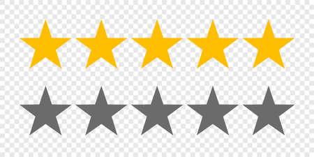 Ilustración de Rating stars or 5 rate review vector web ranking star signs - Imagen libre de derechos