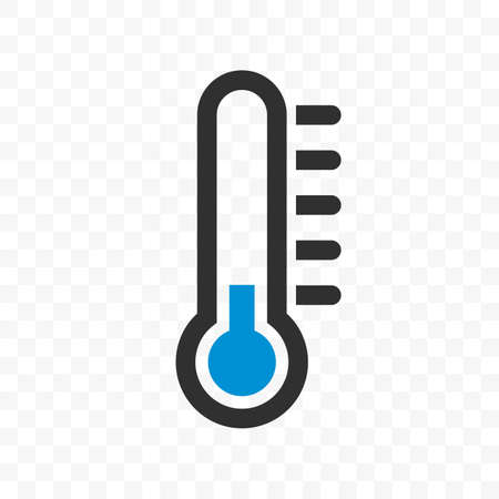 Illustration pour Thermometer vector icon with blue cold low temperature scale for weather or medicine - image libre de droit