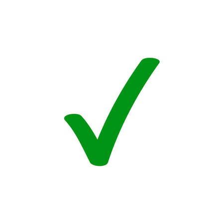 Illustration pour Green tick checkmark vector icon for checkbox marker symbol - image libre de droit