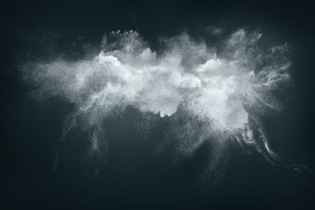 Foto de Abstract design of white powder cloud against dark background - Imagen libre de derechos