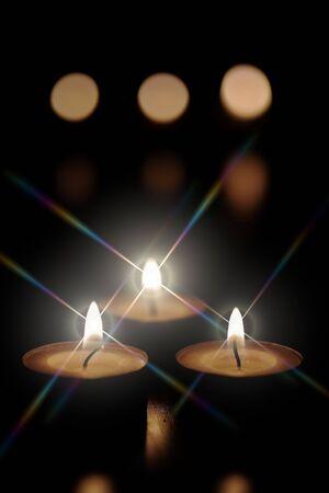 Foto de Christmas candles - Imagen libre de derechos