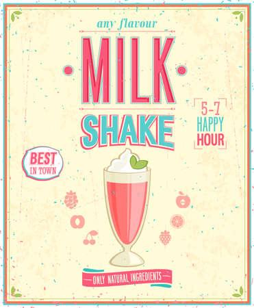 Foto de Vintage MilkShake Poster.   - Imagen libre de derechos