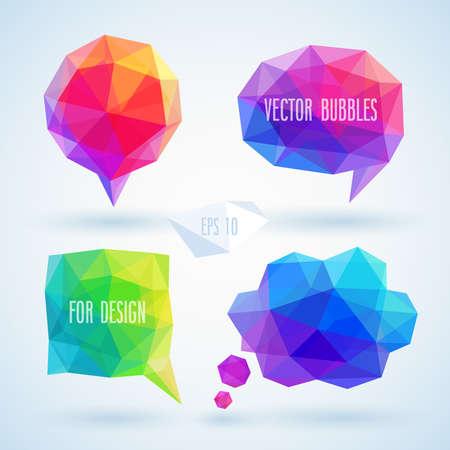 Ilustración de Colorful geometric bubbles for speech.  - Imagen libre de derechos