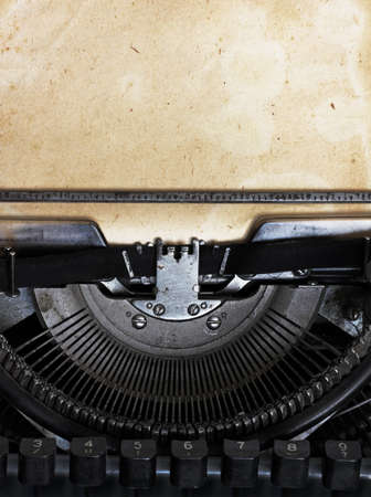 Photo for vintage typewriter with paper - Royalty Free Image
