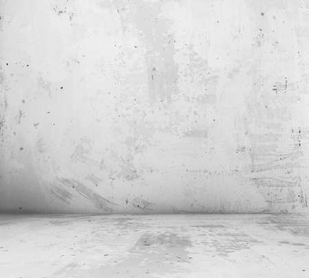 Foto de old empty room with concrete wall, grey interior background - Imagen libre de derechos