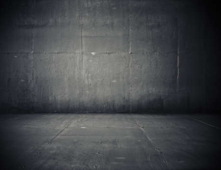 Foto de empty room with concrete wall, grey background - Imagen libre de derechos