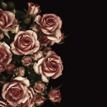 Foto de Beautiful Roses Bouquet Flowers Background - Imagen libre de derechos