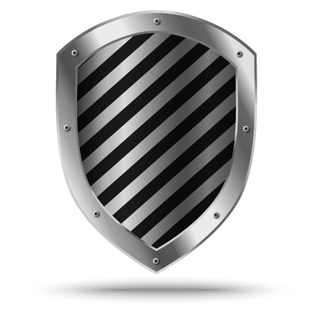 Illustration for Classic silver shield. Protection sign. - Royalty Free Image